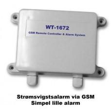 WT-1672A GSM strømsvigts alarm
